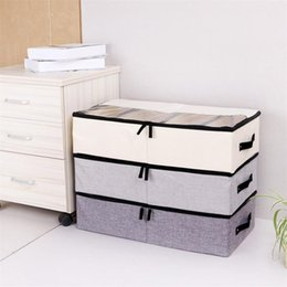 Bra Storage Organizers Australia - Lasperal Foldable Storage Box For Shoes Wardrobe Closet Organizer Sock Bra Underwear Cotton Storage Bag Under Bed Organizador Q190429