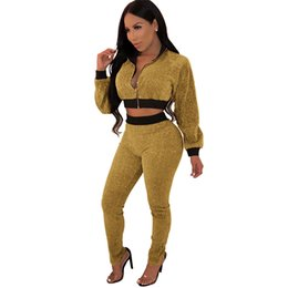 43be27fdd5 Women Clothes Two Piece Sets 2 piece woman set womens sweat suit explosions  autumn and winter gold wire set Garneti quality is awesome