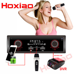 Song mp3 player online shopping - HOXIAO din car FM AM Radio V Bluetooth Car Stereo MP3 Audio Player V Charger USB Can K song AUX auto Radio