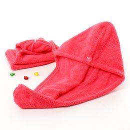 $enCountryForm.capitalKeyWord Australia - DHL Shower Caps For Magic Quick Dry Hair Microfiber Towel Drying Turban Wrap Hat Caps Spa Bathing Caps free shipping