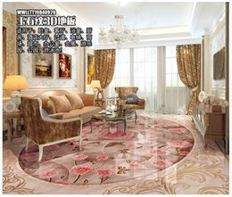 Wholesale marble for floors for sale - Group buy 3d pvc flooring custom photo Waterproof Self adhesive floor Marble rose flower pattern living room home decor Vinyl wallpaper for walls d