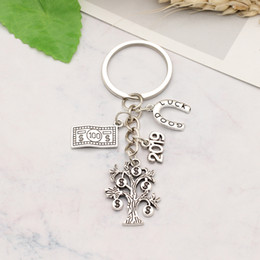 $enCountryForm.capitalKeyWord Australia - 2019 Good Luck Make More Money Dollar Tree Dollar Bill Charm Pendant Keychain Inspiring Keyring Holder Jewelry Gift