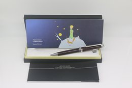 pen pent NZ - Luxury the little prince series MB ballpoint pen Light Brown body with silver Trim office school supply gift pen