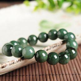 $enCountryForm.capitalKeyWord Australia - Genuine natural glutinous jade beads round bracelet Myanmar jade beads hand A goods bracelet