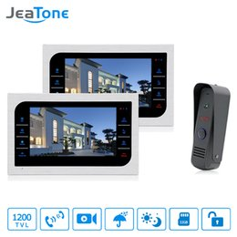 $enCountryForm.capitalKeyWord Australia - JeaTone 10'' Video Door Phone Intercom Home Security System Memory Touch Key Indoor Monitor Wide Angle Lens Door Bell Home Apartment Kit