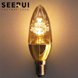 $enCountryForm.capitalKeyWord Australia - Led pointed bubble E14 spiral candle bulb energy-saving lamp pull tail bubble crystal light source warm yellow