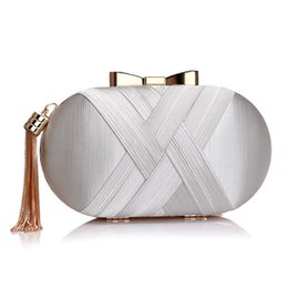 213d322bd45 Golden Luxurious Tassel Women Evening Bags Chain Shoulder Handbags Purse  Korean Bow Wedding Party Day Clutches Wallet #151051