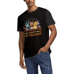 Custom Print T Shirt Cheap UK - Five Nights At Freddy Freddy Fazbears Pizza Summer Men T Shirt white Shirts Custom T Shirts Funny T Shirts Superhero Cheap Shirt Black