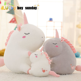$enCountryForm.capitalKeyWord Australia - Unicorn Plush Toy Fat Unicorn Doll Cute Animal Stuffed Unicornio Soft Pillow Baby Kids Toys For Girl Birthday Christmas Gift J190717