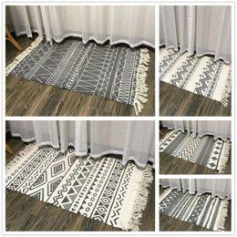 Schaffen Sie gewebte indische Baumwollstamm-Bereich-Wolldecke-Boden-Matte Boho dekorative Wurf-Geschenke 60CM * 130CM