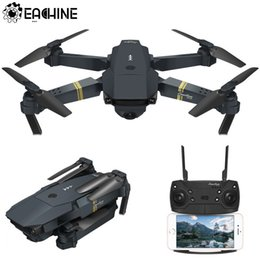 Toy Drones Cameras Australia - Eachine E58 WIFI FPV With Wide Angle HD Camera High Hold Mode Foldable Arm RC Quadcopter Drone RTF VS VISUO XS809HW JJRC H37