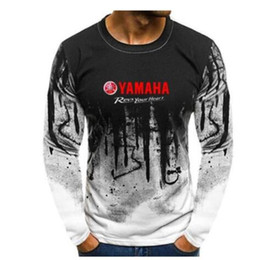 mens nylon tee shirts Australia - New for Yamaha Motorcycle Motorbike Biker Rider Sport Long Sleeve T-Shirt Cotton Tees Tops Mens Plus size Sweatshirts