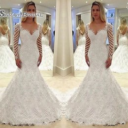 6961ed2c39f Maternity wedding gown sleeves beaded online shopping - Amazing Lace  Mermaid Wedding Dresses Sequined Beaded Appliques