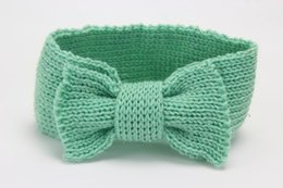 $enCountryForm.capitalKeyWord Australia - baby girl headband Sweet Department of Children's Warm Headset Hand Crochet Hair Bow Hair Belt for Babies Baby Kids Girl