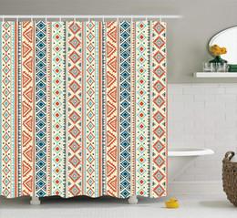 $enCountryForm.capitalKeyWord UK - Tribal Shower Curtain Mexican Style Aztec Patterned Retro Hand Drawn Design Abstract, Fabric Bathroom Decor Set