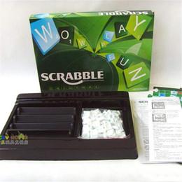 Scrabble Jogo Inglês Scrabble área de trabalho Jogo aprender inglês Brinquedos Educativos Dê ao seu filho uma boa aprendizagem transporte livre ambiente em Promoção