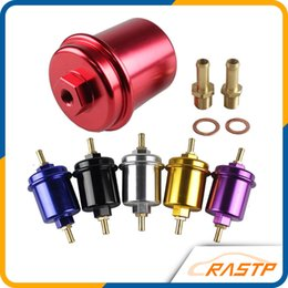 rastp-car high quality flow washable fuel filter for honda acura civic  color black blue red purple gold silver rs-ofi013