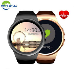 "smartwatch heart rate gps UK - KingWear Smartwatch KW28 Phone 2G MTK2502 1.3"" Heart Rate Monitor Anti-Lost Smart Watch Remote Camera Support TF Card PK KW18 BA"