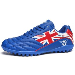 Soccer Shoes For Women Australia - Outdoor shoes 2019 Boys Kids Football Boots Soccer Shoes for Children PU Leather Man Soccer Cleats Shoes Women Chaussures De Football Homme