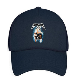 $enCountryForm.capitalKeyWord Australia - Kids Boys Girls Unisex Adjustable Baseball Cap Metallica Metal Up Your ass electric shock Sun Hat Mesh Back Trucker Hats
