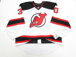 e9eece8d9 Cheap custom BRODEUR NEW JERSEY DEVILS AWAY JERSEY GOALIE CUT 60 stitch add  any number any name Mens Hockey Jersey