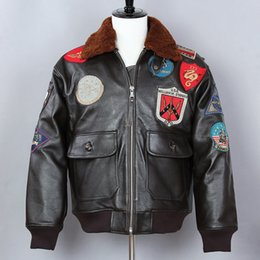 50587738b Black avirex jacket online shopping - Avirex fly Flight Jacket Genuine Leather  Jacket Men Cow Leather