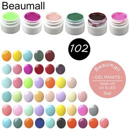 white rose painted red 2019 - Beaumall Gel Painting 102 Colors, 5ml Per Pot Pure Colors Nail Art UV Gel For Nail Manicure Padicure DIY cheap white ros