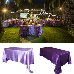 $enCountryForm.capitalKeyWord Australia - 145x320cm White Black Tablecloths Table Cover Rectangular Satin Tablecloth for Wedding Birthday Party Hotel Banquet Decoration