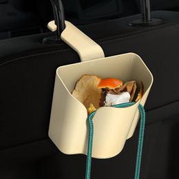 Car Back Hook Australia - yentl free shipping Car seat back hook multi-function storage bucket 2-in-1 hook bracket storage box Creative rear seat water cup holder
