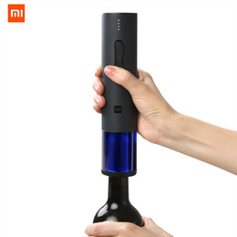 Automatic Cutters Australia - Original Xiaomi Mijia Huohou Automatic Wine Bottle Opener Kit Electric Corkscrew With Foil Cutter For xiaomi smart home kits