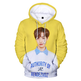 coat kpop men Australia - Kpop New Design 3D Hoodie Korean Singer Hoody Boy Girl Sweatshirt Men Women Coat Fashion Outwear
