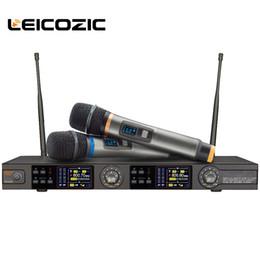 $enCountryForm.capitalKeyWord NZ - Leicozic Digital Wireless Microphone Dual Channel Handheld Microfone W600 True Diversity Wireless microfono for Stage 660-820Mhz