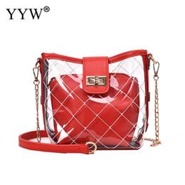 $enCountryForm.capitalKeyWord Australia - New Candy Color Transparent Bag Summer Clear Crossbody Bag Red Yellow Flap 2019 Women Jelly Zipper Handbags Purse Bucket