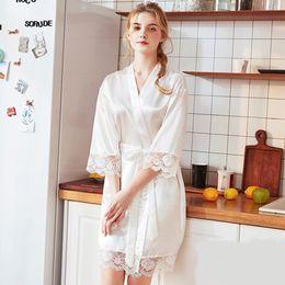 $enCountryForm.capitalKeyWord Australia - Sexy Nightgown Women Lace Robe Lingerie Fashion Nightdress Scalloped Satin Nightwear Silk Slip Sleepwear Chemises Sleep Wear New