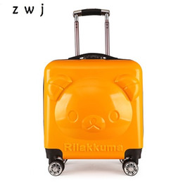 c8d10ad294b0 Cartoon bear 3D rolling luggage for boys and girls children s travel  suitcase kids luggage