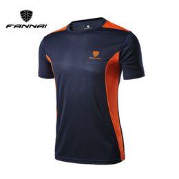 Quick Drying Sports T Shirt Australia - Fannai Men's Sport Running Quick Dry Short Sleeve Basketball Soccer Training T Shirt Fitness Men Gym Clothing Boy Top Tee Q190522