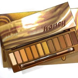 Honey pen online shopping - Naked Honey Eye Shadow Makeup Eyeshadow Palette Colors Naked Sweet High Quality Multi Pearlescent with Brush Fast Shipping