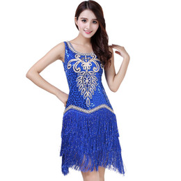 $enCountryForm.capitalKeyWord Australia - Sexy Women O Collar Sleeveless Beads Sequin Fringe Latin Dance Dress Competition Outfits Swing Tango Ballroom Jazz Party Costume