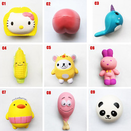 Wholesale cell phone plants resale online - Squishy Toy peach Cat corn squishies Slow Rising cm cm cm cm Soft Squeeze Cute Cell Phone Strap gift Stress children toys