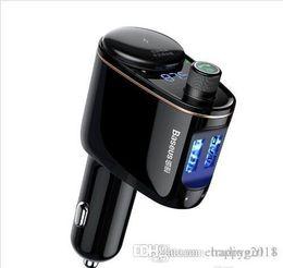$enCountryForm.capitalKeyWord Australia - Brand Baseus Car Charger MP3 Audio Player Bluetooth Car Kit FM Transmitter Handsfree Calling 5V 3.4A Dual USB Car Charger Mobile Phone Charg