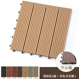 Azulejos Easy Fit Anticorrosivas 30x30cm WPC madera al aire libre cubierta de granos tablas de la plataforma de madera compuesta plataformas de material compuesto de plástico en venta
