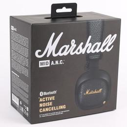 China Marshall MID ANC Bluetooth Headphones Deep Bass DJ Hifi Wireless Stereo On-Ear Headset with Mic Sports Earphone Studio Headsets DHL suppliers