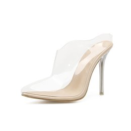 ee6aac734 Dress Fidanei 2019 Pvc Jelly Sandals Crystal Leopard Open Toed High Heels  Women Transparent Heel Sandals Slipper Discount Pumps 11cm