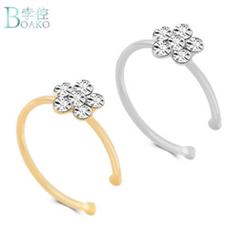 Indian Nose Piercing Australia - BOAKO Limited Fake Piercing Grillz Fashion Piercing Nose Ring Indian Flower Stud Hoop Septum For Clicker Clip Rings Body Jewelry