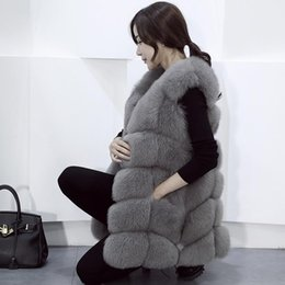 $enCountryForm.capitalKeyWord NZ - 100% Genuine Full Pelt Skin Luxury Fox Fur Long vest black red blue green gray beige30 colors,real natural fox fur coat