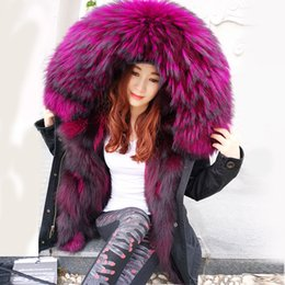 hot silver fox Australia - 2019Fashion winter jacket women outwear thick parkas raccoon natural collar real fox fur liner coat hooded Top brand mr Hot sale SH190921
