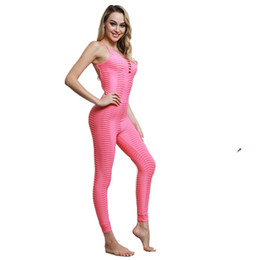 yoga pants jumpsuits UK - Women One Piece Jumpsuit Yoga Set Slim Hip Fitness Trousers Sport Gym Outfit Set Running Suit Sportswear Pants Workout Clothing