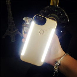 $enCountryForm.capitalKeyWord NZ - For iPhone X 6S anti-fall 3 generations Light Up selfie flash phone Case the flash Protector Cover Bag For Samsung s8 s9 plus