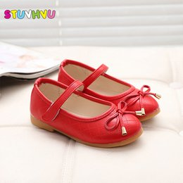 Wholesale Red Shoes Australia - party girls shoes new fashion 2019 baby children kids girl princess leather red shoe spring autumn size 21~36 over 2 years old