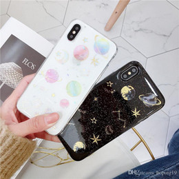 Star Water Case Australia - High quality Epoxy Phone Case For iPhone XS XR XS Max X 5 5S 6 6S 7 8 Plus X Planet Star Transparent TPU Phone Back Cover Cases New